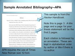 The APA sets out apa style annotated bibliography example writing for you to follow  We also provide you with a sample annotated bibliography APA style for