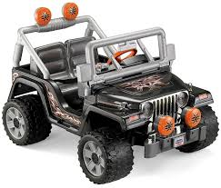 jeep bandit stock amazon com fisher price power wheels tough talking jeep wrangler