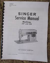 singer 347 348 sewing machine service repair adjusters manual book