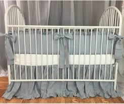 Duck Crib Bedding Set Duck Egg Blue Baby Bedding Set With Sash Ties Ruffled Crib Skirt