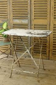 Vintage Bistro Table Finnegan Gallery Folding French Bench French Bistro Furniture