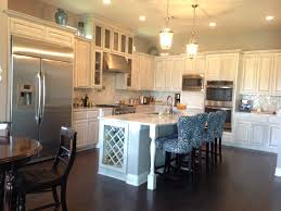 grey kitchen with white and gray glazed cabinets soci fremont