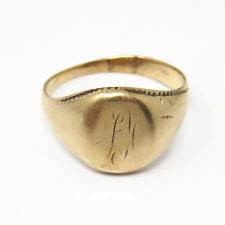 mens monogram ring mens monogram ring ebay