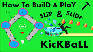How To Build A Baseball Field In Your Backyard How To Build And Play Slip And Slide Kickball Diy Youtube
