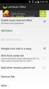 get led color effects for music playing on your android