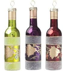 sullivans wine bottle ornaments set of 3
