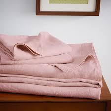 cotton vs linen sheets belgian flax linen sheet set rosette west elm