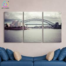 home decor shops sydney aliexpress com buy 3 panels modern canvas painting the sydney
