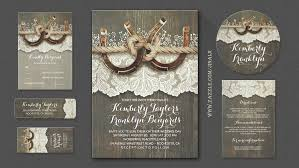rustic wedding invitation read more rustic horseshoes wood and lace wedding invitations