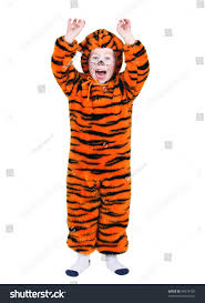 young boy halloween tiger costume stock photo 64678129 shutterstock