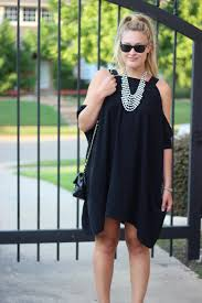 black necklace dress images Black dress and a statement necklace cameron proffitt jpg