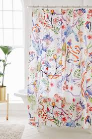 Pink Flower Shower Curtain Curtains Teal Floral Curtains Mench Floral Window Treatments
