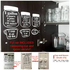 Kitchen Bakers Cabinet by Sale Baking Measurement Equivalents Vinyl Wall Decal Sticker