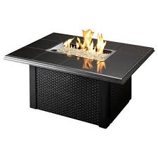 napa valley crystal fire pit table outdoor great room napa valley fire pit table black with wicker base