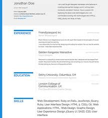 resumonk 8 online tools to create a professional slick resume web appstorm