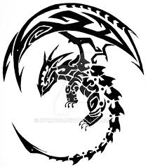tribal dragon by spirogs on deviantart