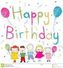 imagenes cumpleaños niños tarjeta del feliz cumpleaños ilustración del vector ilustración de