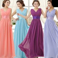 chagne bridesmaid dresses women yellow sky royal blue light purple pink violet