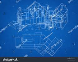 House Blueprint by House Blueprint Stock Illustration 256654174 Shutterstock