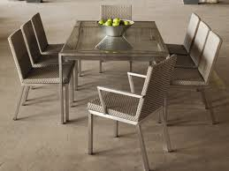 metal dining room tables furniture a gorgeous metal dining room table and woven chairs on