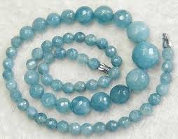 gemstone beads necklace images Faceted 6 14mm natural brazilian aquamarine round gemstone beads jpg