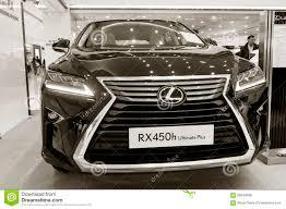 lexus cars new model exhibition presentation of a new car model lexus editorial