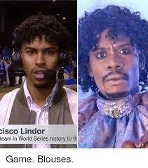 Game Blouses Meme - cisco lindor team in world series history to th game blouses funny