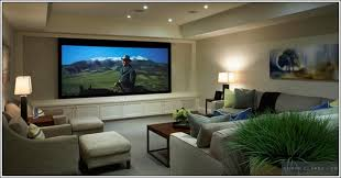 Interesting Living Room Home Theater Design Small Theaters Ideas - Living room with home theater design