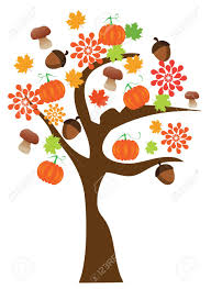 thanksgiving clip art border vector fall tree royalty free cliparts vectors and stock