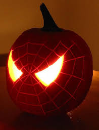 halloween pumpkin carvings spiderman fall pinterest