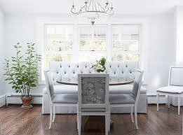 banquette with round table tufted banquette photos 1 of 2