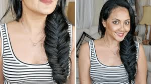 find a hairstyle using your own picture how to fishtail braid with clip in hair extensions on your own