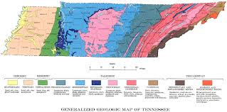 Map Of Alabama And Tennessee by Tennessee Landforms Sinkholes