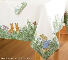 pottery barn table linens peter rabbit table cloth at pottery barn kitchen table linens