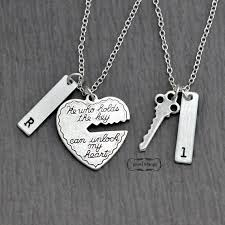 heart couple necklace images Key to my heart couple necklace mr mrs hand stamping jpg