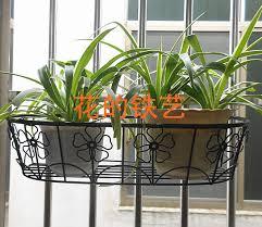 iron balcony railing fence hook spider flower pots flower pots