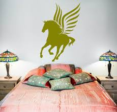 popular fairytale wall mural buy cheap fairytale wall mural lots wall vinyl fairytale horse wings pegasus mural vinyl decal china