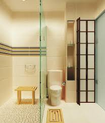 grand interior zen bathroom design idea with showering area also