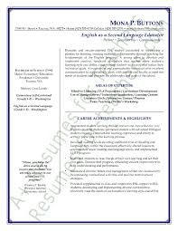 Student Teaching Resume Examples by Esl Teacher Resume Sample Page 1 Teacher Language And