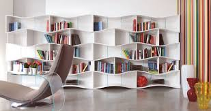 white shelves interior partition wall design that can be decor with