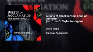 a song of thanksgiving land of our birth arr s de b