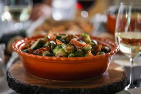 maple balsamic brussels sprouts with bacon thanksgiving
