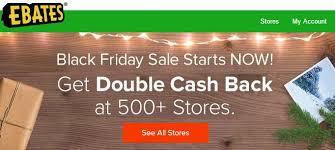 amazon cashback black friday double cash back from ebates on black friday saving toward a