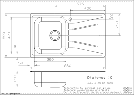 dessin evier cuisine evier a encastrer reginox diplomat 10 1c inox gravé anti rayures