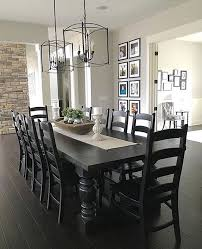 Black Dining Room Furniture Diy Faux Floral Arrangement Feminine Yet Rustic Crate Modern