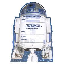 amazon com star wars r2 d2 party invitations pack of 20 toys