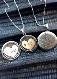 custom engraved lockets buy a made initials and date locket necklace heart locket