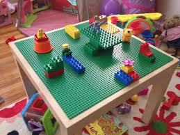 Lego Table With Storage For Older Kids Geek Dad Project Lego Play Table Ikea Hack Playroom Area