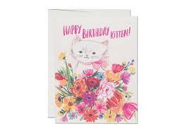 happy birthday kitten card u2013 paper pastries