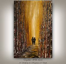 Home Design Ideas Nandita Gold Landscape Painting Brown Scenic Tree Art Together With
